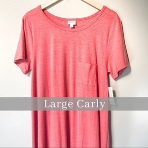 Lularoe Carly Heathered Coral Size Large